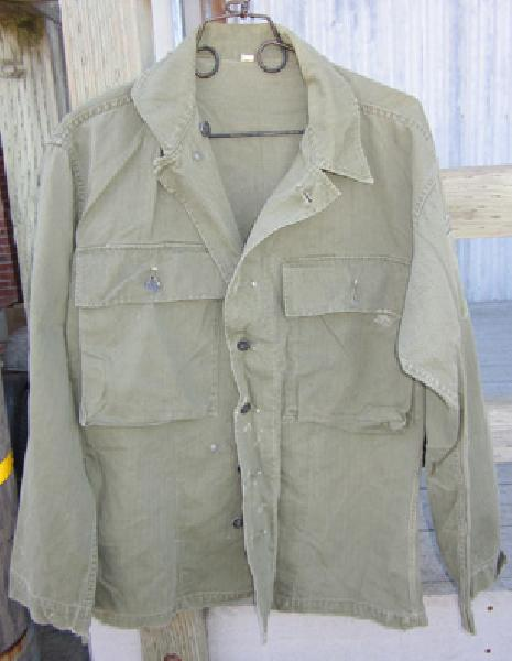 Sale UU-360, WWII U S  Army 3rd pattern HBT jacket