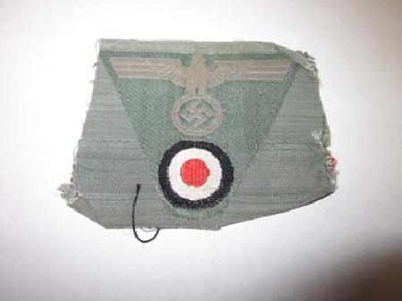 ML-196, WWII German Army Bevo Style Cap Eagle (trapezoid