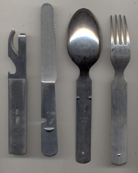 Military Antiques and Museum - - GF-355, Post War German Cutlery Set