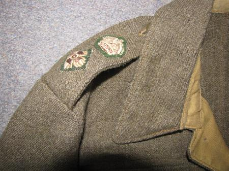 WM-219, WWII Canadian Army Lt  Colonel's Battle Dress Blouse