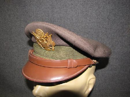 UH-537, WWII US Army Air Force Officer's Crusher Visor Cap - Helmets