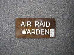 click to see av712-wwii-british-bakelite-air-raid-warden-door-sign