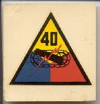 click to see sale-uyh0002-post-wwii-us-army-40th-armored-division-helmet-liner-patch