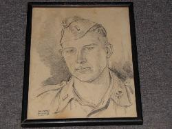 click to see sale-uyp0003-wwii-us-army-occupation-hand-drawn-portrait