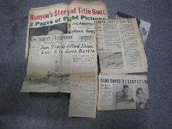 click to see sale-uwn0003-collection-of-battle-of-java-sea-newspaper-clippings