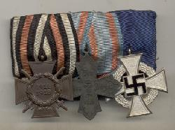 click to see sale-gwm0050-wwi-wwii-german-3-place-medal-bar