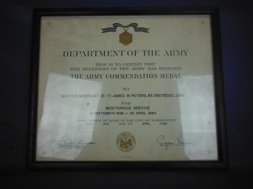 UDM-0001 Cold War Era US Army Commendation Medal Set with ...