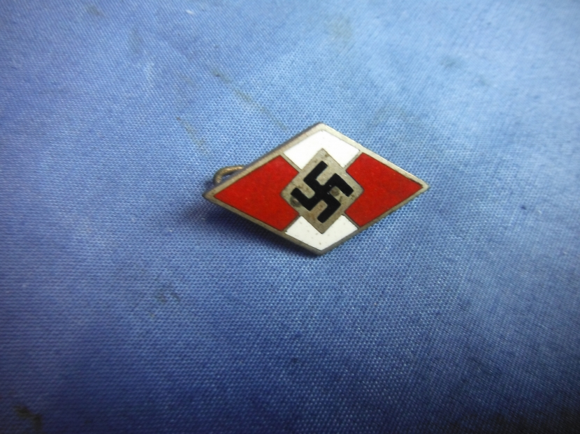 Military Antiques and Museum - - GWI-0161 WWII German Enamel Hitler