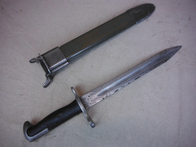 Military Antiques and Museum - - UWK-0143 WWII US M1 Garand Bayonet