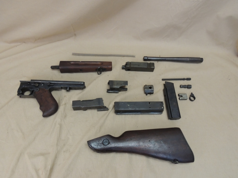 UWF-0028 WWII Era US Thompson Parts Kit - Demilled Firearms