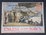 click to see sale-uxp0007-wwi-us-navy-poster-enlist-in-the-navy-follow-the-boys-in-blue-for-home-and-country